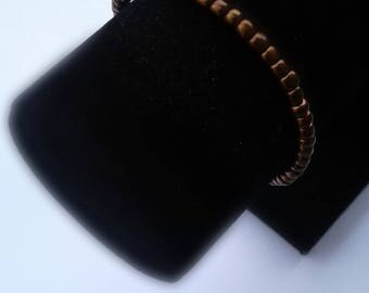 Metallic Brown Beaded Bracelet