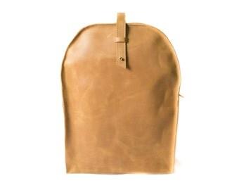 Rucksack, leather backpack, monogram backpack, leather rucksack, traveling backpack, backpack purse, book bag, minimalist backpack, yellow