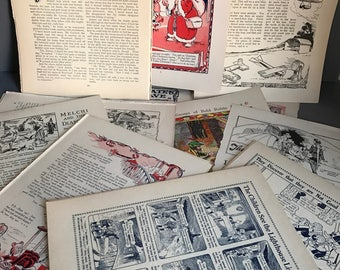 Ephemera Vintage Scrap-booking/Craft  Papers/ Pages/Images 1932 Playbox Annual. Over 40 pages.