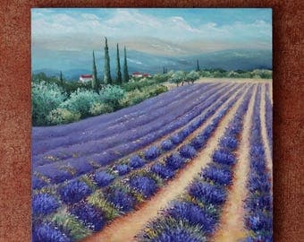 Dreams of Provence Painting Original Oil Painting On Canvas Provence Painting Home Interior Wall Art Canvas Lavender Art Landscape