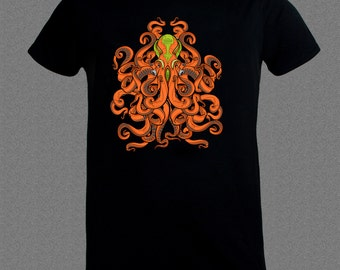 Scuba Diver Alien Octopus Fish Diving Ocean T-shirt