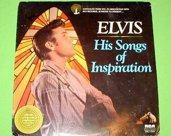 Elvis his songs of inspiration original vintage record album RCA stereo