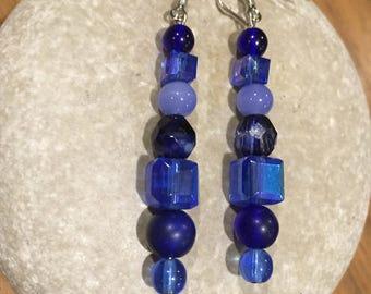 Blue heaven stacked earrings