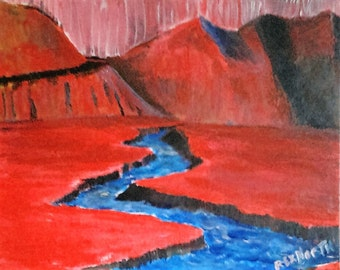 Red mountain landscape