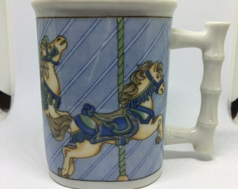 Vintage Horse Carousel Coffee Cup
