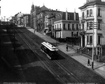 1901 San Francisco Cable Car Poster Print