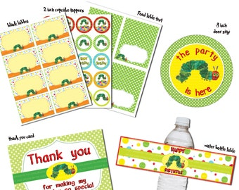 INSTANT DL- the very hungry caterpillar Birthday Party Package - Printable set (NON Personalized)