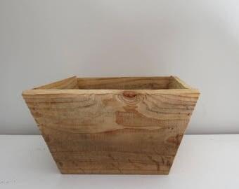 Small Tapered Cedar Planter Box/Flower pot