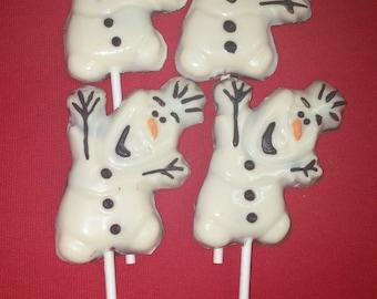 Olaf Chocolate Pops