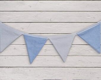 Blue pennant pennant banner, Garland