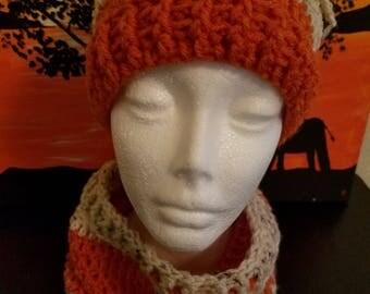 2 in 1 ponytail hat / neckwarmer