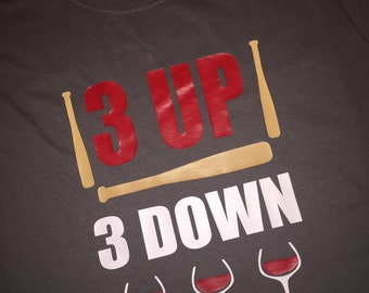 3 UP 3 DOWN Baseball Mom tee