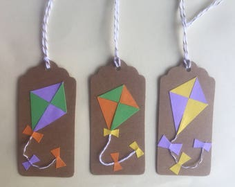Birthday gift tags handmade tags birthday labels handmade personalised gift tags kite