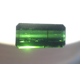 Green baguette tourmaline loose stone