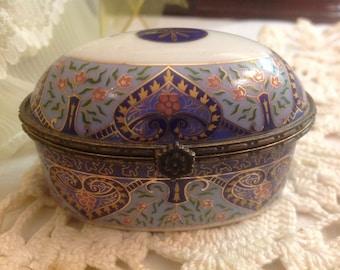 Vintage NAV. Porcelain Trinket Box from Portugal