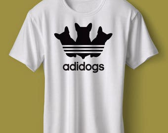 "T-Shirt - ""Adidogs"" Women - Men - Polyester Tee Sleeve - FAST SHIPPING"