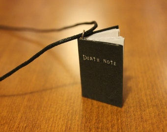 4cm Death Note Miniature Book Necklace