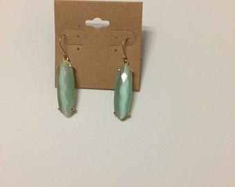 Light Mint green Dangle drop earrings