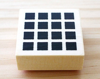 CLEARANCE SALE - Rubber stamp - small square pattern
