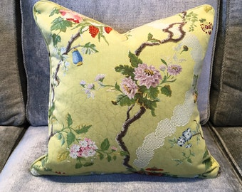 Silk Colony fabric cushion