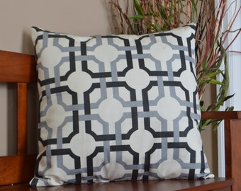 LOWER PRICES! Abstract Black, and Grey on Cream Pillow Cover