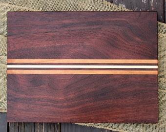 Hardwood Cutting Board - Walnut, Cherry, & Maple (handmade custom wood)