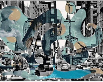 New York mixed Media, photography, collage, magic Tree, Manhattan, traffic, photography, photography, mural,