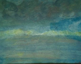 Blue Mural Sky Painting
