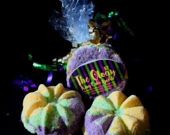 King Cake Bath Bombs