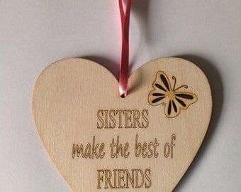 Sister Heart Plaque