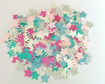 Handmade unicorn table confetti