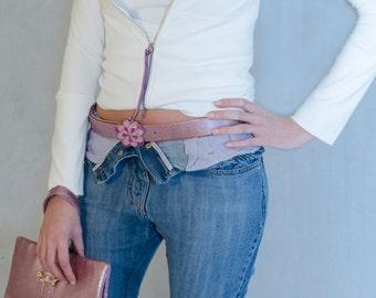 "Sweatshirt ""Montecarlo"" and genuine Python leather belt"