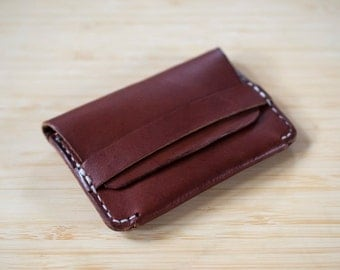 Leather Card Wallet, Leather Slim Wallet, Leather Minimalist Wallet, Leather Card Holder. Great Gift Idea!