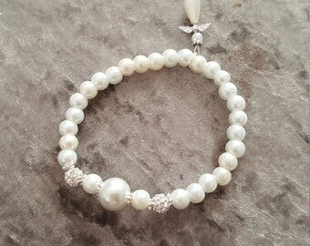 Beautiful crystal guardian angel bracelet