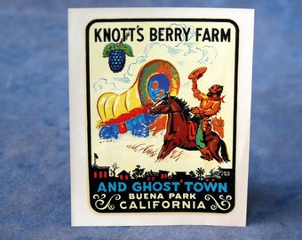 Knott's Berry Farm Windshield Decal from the early 1950s