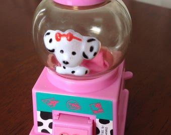 Rare Vintage Sanrio Spottie Dottie Mini Gumball Machine early 1990s