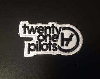 "3"" Twenty one pilots music rock logo embroidered iron on patch"