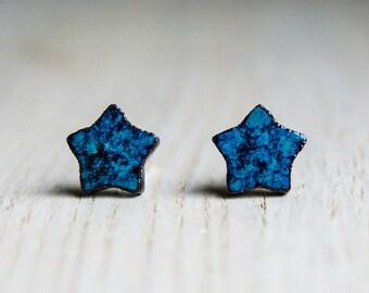 Ceramic stud earrings - little stars