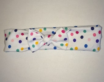Polka dot baby headband