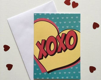 XOXO - Greetings Card - Thank You Card - Note Card