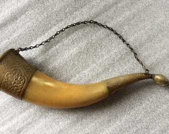 Russian drinking Wine Horn with bird head