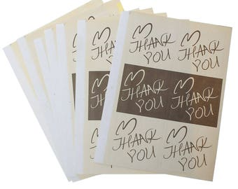 60 labels, adhesive labels, thank you, thank you, sticker * 71526