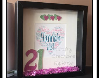 Personalised 21st Birthday Frame