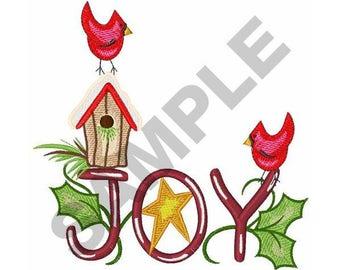 Christmas Cardinals - Machine Embroidery Design
