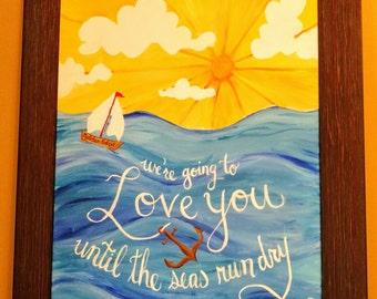 Custom Nautical Nursery Painting
