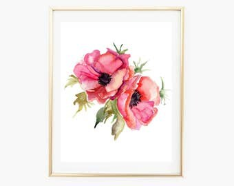 Nursery Wall Art, Nursery Art Girl, Nursery Decor Girl, Baby Shower Girl, Baby Gifts Girl, Floral Art Print, Floral Printable, Nursery Art