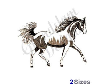 Arabian Horse Outline - Machine Embroidery Design