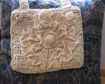 Bag in the style of a boho.Crochet.