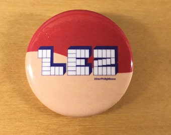 "HerPhillyMOVES ""LEZ"" Pinback Button"