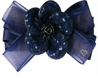 SUE Bow Tie Flower Fancy Hair Clip